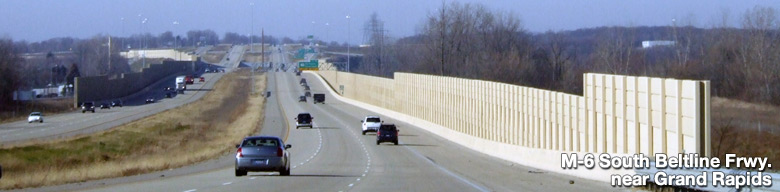 M-6 South Beltline Freeway near Grand Rapids