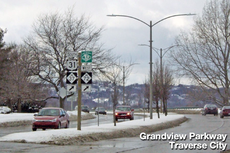 Grandview Parkway in downtown Traverse City