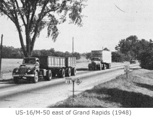 US-16/M-50 east of Grand Rapids, 1948