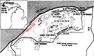 M-107 Westerly Extension Map, 1965