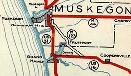 M-123 on 1929 State Highway Department map.