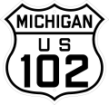 Historic US-102 Route Marker