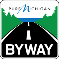 Pure Michigan Byway route marker